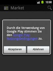 Samsung Galaxy Y - Apps - Einrichten des App Stores - Schritt 17