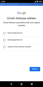 Sony Xperia XZ2 - Android Pie - Apps - Konto anlegen und einrichten - Schritt 11