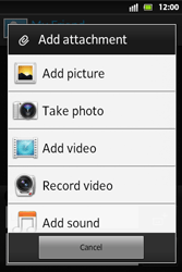 Sony ST27i Xperia Go - MMS - Sending pictures - Step 11