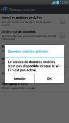 LG Optimus F6 - Internet et connexion - Désactiver la connexion Internet - Étape 7