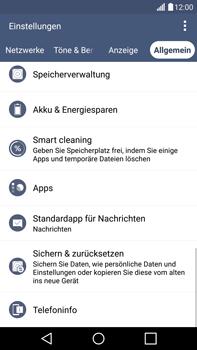LG G4 - Fehlerbehebung - Handy zurücksetzen - 7 / 12