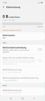 Samsung Galaxy A51 - Internet und Datenroaming - Prüfen, ob Datenkonnektivität aktiviert ist - Schritt 6