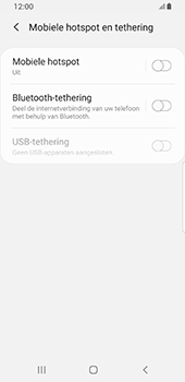 Samsung galaxy-s8-sm-g950f-android-pie - WiFi - Mobiele hotspot instellen - Stap 6