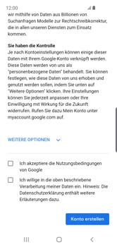 Samsung Galaxy S10e - Apps - Konto anlegen und einrichten - Schritt 15