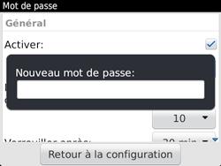 BlackBerry 9720 - Sécuriser votre mobile - Activer le code de verrouillage - Étape 7