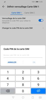 Huawei P Smart (2019) - Sécuriser votre mobile - Personnaliser le code PIN de votre carte SIM - Étape 10