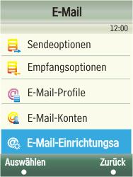 Samsung F480-TouchWiz - E-Mail - Konto einrichten - Schritt 6