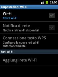 Samsung Galaxy Pocket - WiFi - Configurazione WiFi - Fase 6