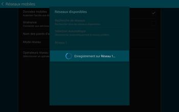 Samsung T805 Galaxy Tab S - Réseau - Sélection manuelle du réseau - Étape 10