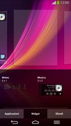 LG D955 G Flex - Operazioni iniziali - Installazione di widget e applicazioni nella schermata iniziale - Fase 9