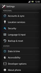 Sony Xperia U - Software - Installing software updates - Step 5