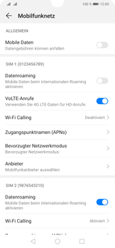 Huawei P30 - Internet und Datenroaming - Prüfen, ob Datenkonnektivität aktiviert ist - Schritt 5