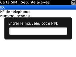 BlackBerry 8520 - Sécuriser votre mobile - Personnaliser le code PIN de votre carte SIM - Étape 9