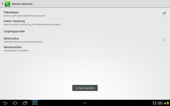 Samsung Galaxy Tab 2 10.1 - Netzwerk - Manuelle Netzwerkwahl - Schritt 12