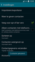 Samsung G900F Galaxy S5 - Contacten en data - Contacten kopiëren van toestel naar SIM - Stap 12