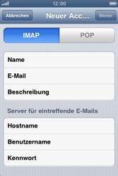 Apple iPhone 3GS - E-Mail - Manuelle Konfiguration - Schritt 9