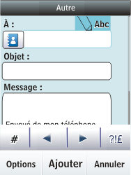 Nokia Asha 300 - E-mail - envoyer un e-mail - Étape 6
