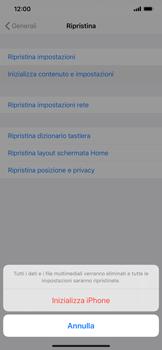 Apple iPhone 11 Pro Max - Dispositivo - Ripristino delle impostazioni originali - Fase 7