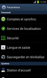 Samsung Galaxy S II - Téléphone mobile - Réinitialisation de la configuration d