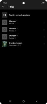 Samsung Galaxy A51 5G - Photos, vidéos, musique - Ecouter de la musique - Étape 10