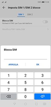 Huawei P20 - Android Pie - Operazioni iniziali - Come abilitare il pin della SIM - Fase 10