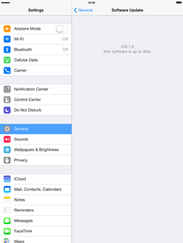 Apple iPad mini iOS 7 - Software - Installing software updates - Step 7