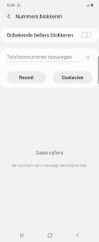 Samsung Galaxy Z Flip Single-SIM + eSIM (SM-F700F) - Beveiliging en ouderlijk toezicht - Nummer blokkeren - Stap 7