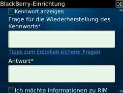 BlackBerry Bold - Apps - Konto anlegen und einrichten - 13 / 19