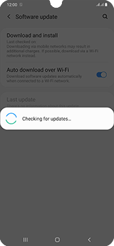 Samsung Galaxy A50 - Software - Installing software updates - Step 6