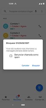 Motorola One Vision - Chamadas - Como bloquear chamadas de um número específico - Etapa 7