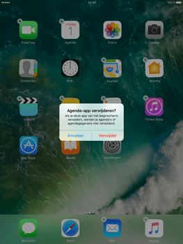 Apple iPad Air 2 iOS 10 - iOS features - Verwijder en herstel standaard iOS-apps - Stap 4