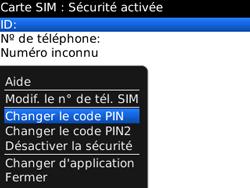 BlackBerry curve 3G - Sécuriser votre mobile - Personnaliser le code PIN de votre carte SIM - Étape 7