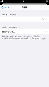 Apple iPhone 7 Plus - iOS 13 - E-Mail - Manuelle Konfiguration - Schritt 20