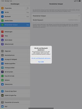 Apple iPad Pro 12.9 (1st gen) - ipados 13 - WiFi - So aktivieren Sie einen WLAN-Hotspot - Schritt 7
