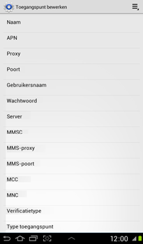 Samsung Samsung P3100 Galaxy Tab 2 7-0 - Internet - handmatig instellen - Stap 9
