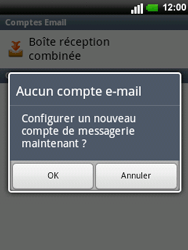 LG C660 Optimus Pro - E-mail - Configurer l