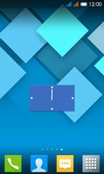 Alcatel One Touch Pop C3 - Operazioni iniziali - Installazione di widget e applicazioni nella schermata iniziale - Fase 6