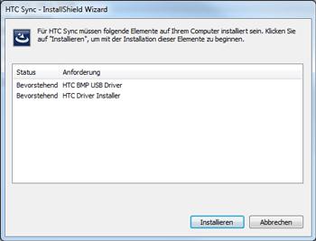 HTC Desire X - Software - Installieren von Software zur PC-Synchronisierung - Schritt 5