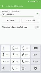Samsung Galaxy S7 - Chamadas - Como bloquear chamadas de um número específico - Etapa 11