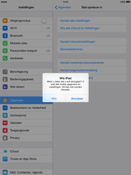 Apple iPad mini retina iOS 8 - Resetten - Fabrieksinstellingen terugzetten - Stap 7