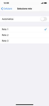 Apple iPhone X - iOS 13 - Rete - Selezione manuale della rete - Fase 7