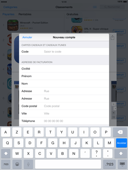 Apple iPad mini iOS 8 - Applications - Configuration de votre store d