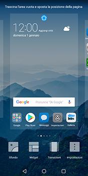 Huawei Mate 10 Pro - Operazioni iniziali - Installazione di widget e applicazioni nella schermata iniziale - Fase 4