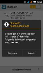 Alcatel One Touch Pop C3 - Bluetooth - Verbinden von Geräten - Schritt 7