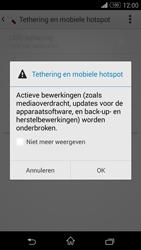 Sony Xperia Z3 Compact 4G (D5803) - WiFi - Mobiele hotspot instellen - Stap 12