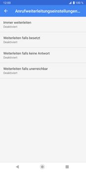 Sony Xperia XZ3 - Anrufe - Rufumleitungen setzen und löschen - Schritt 9