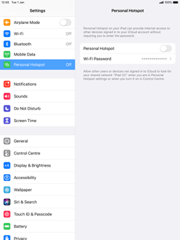 Apple iPad mini (2019) - iPadOS 13 - WiFi - How to enable WiFi hotspot - Step 6