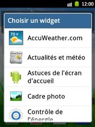 Samsung Galaxy Pocket - Prise en main - Installation de widgets et d