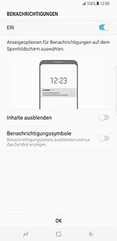 Samsung Galaxy S8 Plus - Datenschutz und Sicherheit - Zugangscode einrichten - 11 / 15