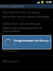Samsung Galaxy Y - Réseau - Sélection manuelle du réseau - Étape 10